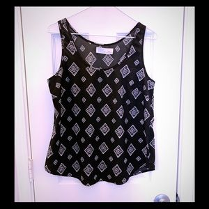 Faded Glory black white patterned tank small 4-6